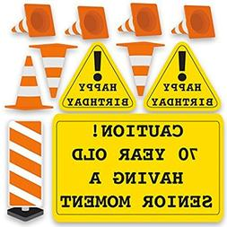 "VictoryStore Yard Sign Outdoor Lawn Decorations:""Caution 70"