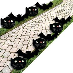 Black Cats and Bats - Cat and Bat Lawn Decorations - Outdoor