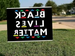 BLM Black Lives Matter 18x12 Yard Sign Double Sided with H-S
