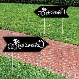 Big Dot of Happiness Black Wedding Ceremony Signs - Wedding