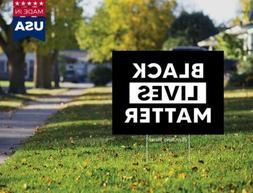 BLM Black Lives Matter Yard Sign Double Sided 18x12 No H Sta