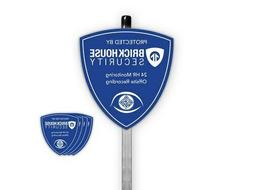 Brickhouse Security Blue Shield Home Surveillance Yard Sign