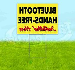 BLUETOOTH HANDS-FREE INSTALLED HERE Yard Sign Corrugated Pla
