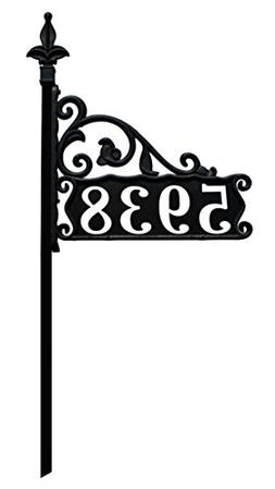 Boardwalk Reflective 911 Home Address Sign for Yard Custom M