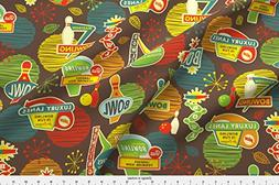 Spoonflower Bowling Fabric Bowling Is Fun For Everyone by Je