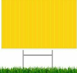 Box of 10 Yellow Blank Yard Signs 18x24 W. H-stakes Garage S
