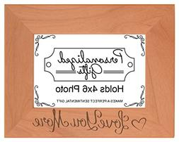 ThisWear Boyfriend Love You More Natural Wood Engraved 4x6 L