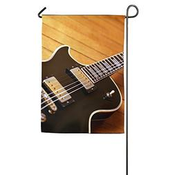 Brown Electric Guitar Home Garden Sign Decorated As Indoor O