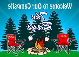 Campground Welcome Sign Campfire Red Chairs for your Camper