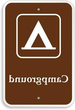 Campground  Sign, Funny Decorative Yard Signs for Outdoors H