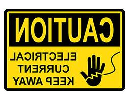 Yohoba Caution Electrical Sign Custom Metal Sign Durable Alu
