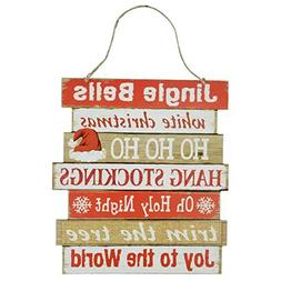 Christmas Decoration Celebrate A Holiday Wooden Wall Signs H