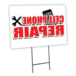 cell phone repair yard sign and stake