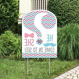 Big Dot of Happiness Chevron Gender Reveal - Party Decoratio