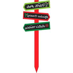 Amscan Christmas Multicolored Cardboard Arrow Yard Stake | P