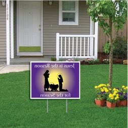 "VictoryStore Yard Sign Outdoor Lawn Decorations -""Jesus Is t"