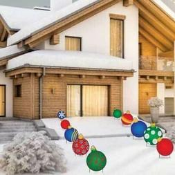 Christmas Ornament Pathway Yard Sign Decorations 10 piece se