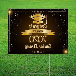 Class of 2020 Graduation Yard Sign | Double Sided | 18x 24
