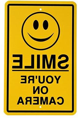 GVGs Shop 1 Pc Classical Popular Smile You're on Camera Sign