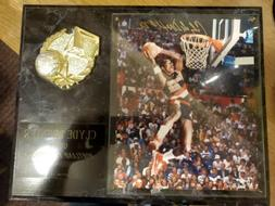 """Clyde drexler Limited Edition 284 of 1000 signed plaque 12"""""""