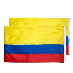Juvale Colombia Flags - 2-Piece Outdoor 3x5 Feet Colombia Fl