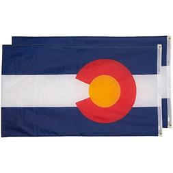 Juvale Colorado State Flags - Pack of 2 Colorado State Flags