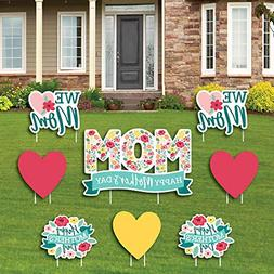 Big Dot of Happiness Colorful Floral Happy Mother's Day - Ya