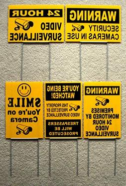 Coroplast Sign - Plastic Sign - Assorted 24 Hour Video Surve
