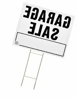 Hy-Ko Corrugated Plastic Lawn Sign With Mounting Bracket Bla