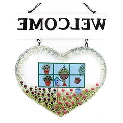 14x11 Inches Beautiful Country View Heart Shape Decorative W