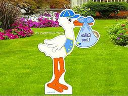 Custom It's a Boy Yard Stork Sign - Outdoor New Baby Announc