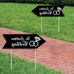 Big Dot of Happiness Custom Black Personalized Wedding Signs