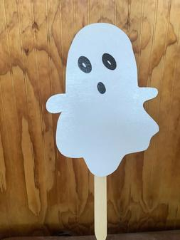 Custom Ghost Yard Sign - Wooden Stake Included - Finished wi