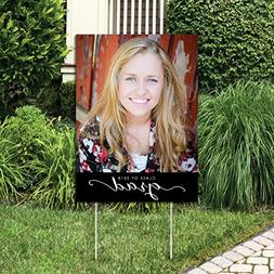 Big Dot of Happiness Custom Graduation Photo Yard Sign – G