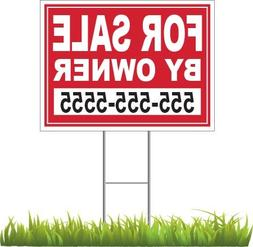 "Custom For Sale By Owner Yard Sign 24"" x 18"""