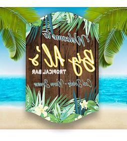 Ruskin352 Custom Paradise Backyard Welcome Sign with Faux Wo