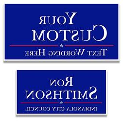 Custom Political Yard Sign #2 - 2 sided print, 2 stakes per