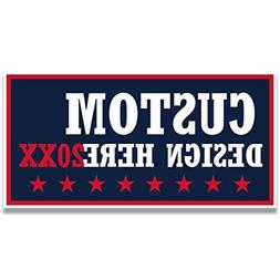 Custom Political Yard Sign #1 - 2 sided print, 2 stakes per