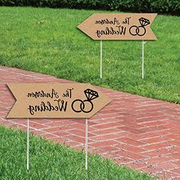 custom rustic personalized wedding signs