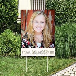 Big Dot of Happiness Custom World Awaits - Photo Yard Sign -