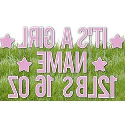 VictoryStore Custom Yard Letters: It's A Girl Yard Letters C