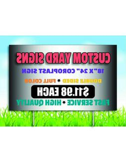 custom yard sign coroplast double sided print