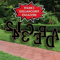 Custom Yard Words - Personalized Letter & Number Messages -