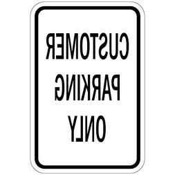 Customer Parking Only Green Funny Yard Decorative Signs for