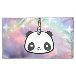 Cute Funny Panda Unicorn Home Garden Sign Decorated As Indoo