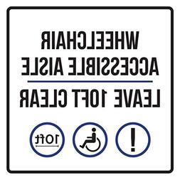 Ballkleid Decorative Sign Wheelchair Accessible Aisle Leave