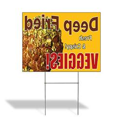 Deep Fried Fresh & Crispy! Veggies! Outdoor Lawn Decoration