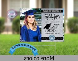 Digital Yard Sign Senior Graduation Class of 2020 - Silver &