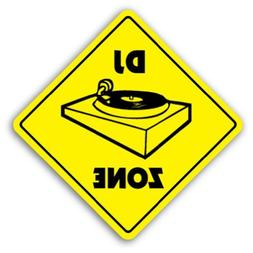Home Decor Sign Dj Zone Sign Signs Turntables Gear Lighting