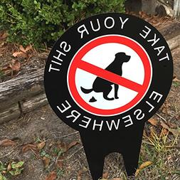 No Dog Pooping Yard Sign Keep your yard and lawn free of pet